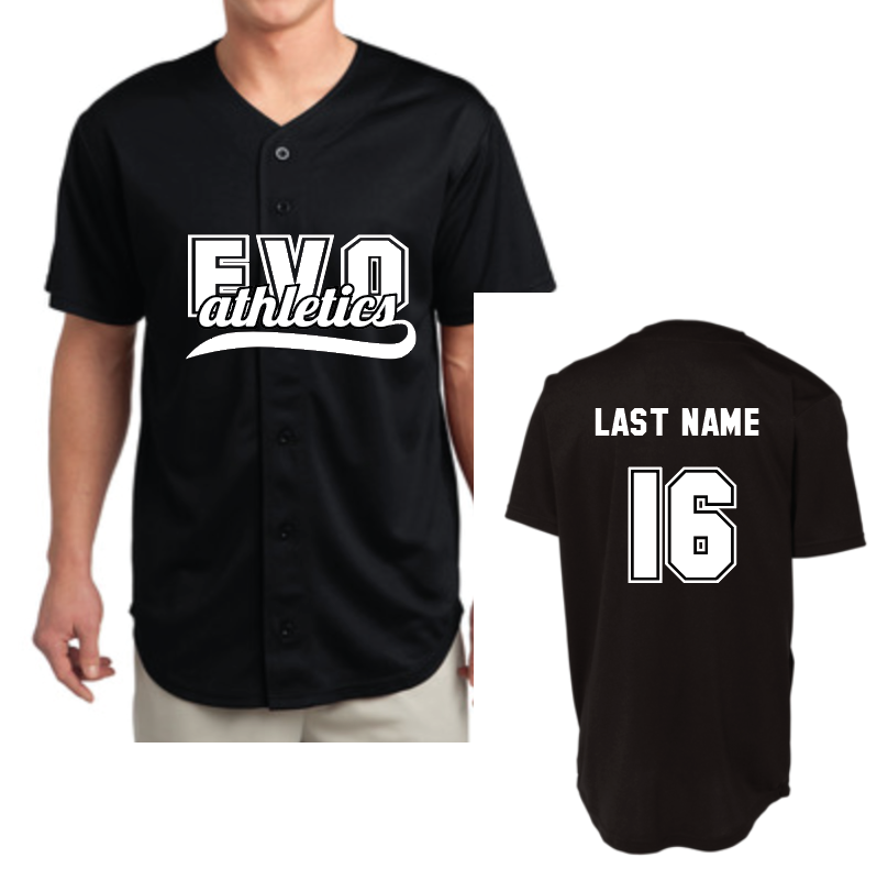 8f4867a2677 Baseball Jersey with Custom Name – Evo Athletics
